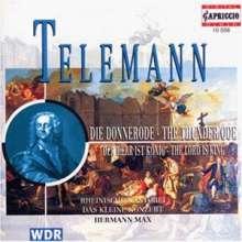 """Georg Philipp Telemann (1681-1767): Kantate """"Die Donner-Ode"""", CD"""
