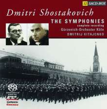 Dmitri Schostakowitsch (1906-1975): Symphonien Nr.1-15, 12 Super Audio CDs