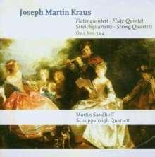 Josef Martin Kraus (1756-1792): Streichquartette op.1 Nr.3 & 4, CD
