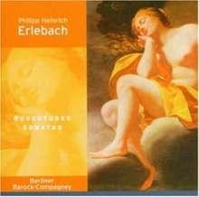 Philipp Heinrich Erlebach (1657-1714): Ouvertüren Nr.5 F-Dur & Nr.6 g-moll, CD