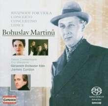 Bohuslav Martinu (1890-1959): Konzert für Klaviertrio & Streicher, SACD