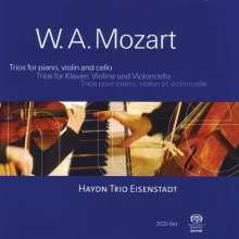 Wolfgang Amadeus Mozart (1756-1791): Klaviertrios Nr.1-5, 2 Super Audio CDs