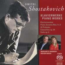 Dmitri Schostakowitsch (1906-1975): Klaviersonaten Nr.1 & 2, 2 Super Audio CDs