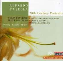 Alfredo Casella (1883-1947): Tripelkonzert op.56 für Klaviertrio & Orchester, Super Audio CD