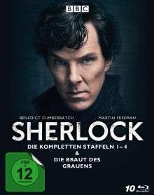 Sherlock Staffel 1-4 & Die Braut des Grauens (Blu-ray), 10 Blu-ray Discs