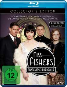 Miss Fishers mysteriöse Mordfälle Staffel 1-3 (Collector's Edition) (Blu-ray), 8 Blu-ray Discs