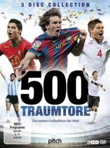 500 Traumtore - Die besten Fußballtore der Welt, 3 DVDs