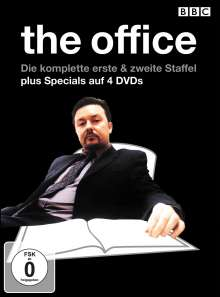The Office (GB) Season 1 + 2 (OmU), 4 DVDs