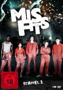 Misfits Staffel 1, 2 DVDs