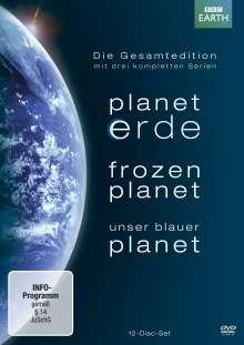 Planet Erde / Frozen Planet / Unser blauer Planet (Komplette Serien), 12 DVDs