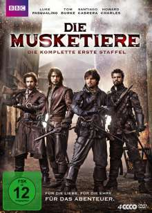 Die Musketiere Staffel 1, 4 DVDs