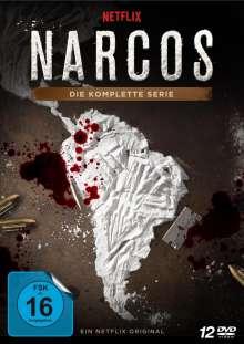 Narcos (Komplette Serie), 12 DVDs
