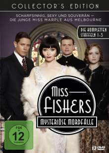 Miss Fishers mysteriöse Mordfälle Staffel 1-3 (Collector's Edition), 13 DVDs