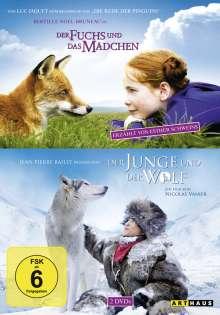 Der Fuchs und das Mädchen + Der Junge und der Wolf, 2 DVDs