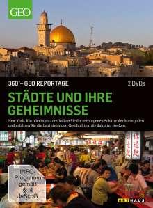 360° Geo-Reportage: Städte und ihre Geheimnisse, 2 DVDs