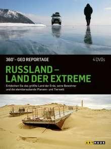 360° Geo-Reportage: Russland - Land der Extreme, 4 DVDs
