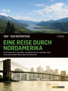 360° Geo-Reportage: Eine Reise durch Nordamerika, 4 DVDs