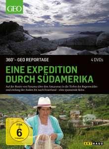 360° Geo-Reportage: Eine Expedition durch Südamerika, 4 DVDs