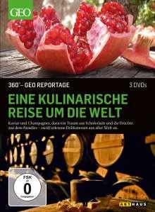 360° Geo-Reportage: Eine kulinarische Reise um die Welt, 3 DVDs