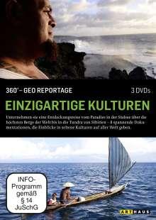 360° Geo-Reportage: Einzigartige Kulturen, 3 DVDs
