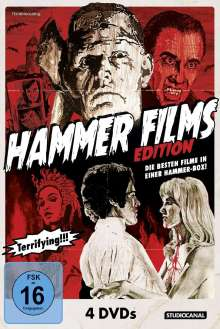 Hammer Films Edition, 4 DVDs