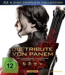 Die Tribute von Panem (Complete Collection) (Blu-ray), 6 Blu-ray Discs