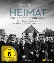 Heimat 1: Eine deutsche Chronik (remastered) (Blu-ray), 5 Blu-ray Discs