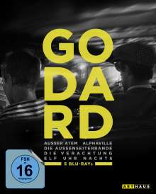 Jean-Luc Godard Edition (5 Filme) (Blu-ray), 5 Blu-ray Discs