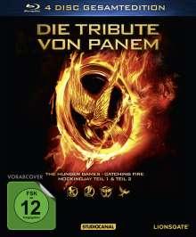 Die Tribute von Panem (Gesamtedition) (Blu-ray), 4 Blu-ray Discs