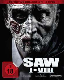 SAW I-VIII (Definitive Collection), 8 DVDs