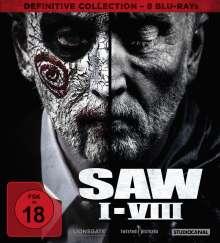 SAW I-VIII (Definitive Collection) (Blu-ray), 8 Blu-ray Discs
