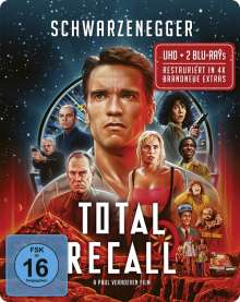 Total Recall (1990) (Ultra HD Blu-ray & Blu-ray im Steelbook), 1 Ultra HD Blu-ray und 2 Blu-ray Discs