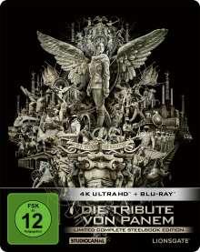 Die Tribute von Panem (Limited Complete Edition) (Ultra HD Blu-ray & Blu-ray im Steelbook), 4 Ultra HD Blu-rays und 4 Blu-ray Discs