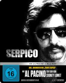 Serpico (Ultra HD Blu-ray & Blu-ray im Steelbook), 1 Ultra HD Blu-ray und 1 Blu-ray Disc
