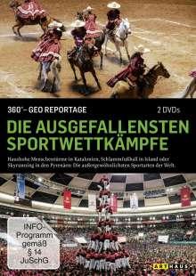 360° Geo-Reportage: Die ausgefallensten Sportwettkämpfe, 2 DVDs