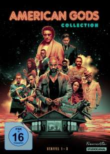 American Gods (Komplette Serie), 11 DVDs