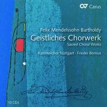 Felix Mendelssohn Bartholdy (1809-1847): Das Geistliche Chorwerk, 10 CDs