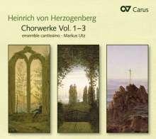Heinrich von Herzogenberg (1843-1900): Weltliche & geistliche Chorwerke, 3 CDs