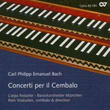 Carl Philipp Emanuel Bach (1714-1788): Cembalokonzerte Wq.5,26,34, CD