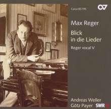 Max Reger (1873-1916): Reger vocal V - Blick in die Lieder (Klavierlieder), CD