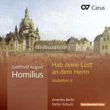 Gottfried August Homilius (1714-1785): Motetten II, CD