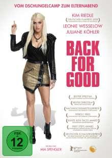 Back for Good, DVD