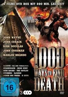 1000 Ways To Find Death (9 Western auf 3 DVDs), 3 DVDs