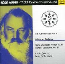 Johannes Brahms (1833-1897): Klavierquintett op.34, DVD-Audio