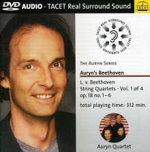 Ludwig van Beethoven (1770-1827): Sämtliche Streichquartette Vol.1, DVD-Audio