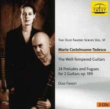 Mario Castelnuovo-Tedesco (1895-1968): Die wohltemperierten Gitarren op.199, 2 CDs