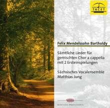 Felix Mendelssohn Bartholdy (1809-1847): Sämtliche Lieder für gemischten Chor a cappella, CD