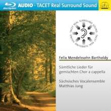 Felix Mendelssohn Bartholdy (1809-1847): Sämtliche Lieder für gemischten Chor a cappella, Blu-ray Audio