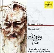 Johannes Brahms (1833-1897): Klaviertrios Vol.3, CD