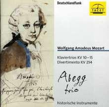 Wolfgang Amadeus Mozart (1756-1791): Frühe Klaviertrios KV 10-15, CD
